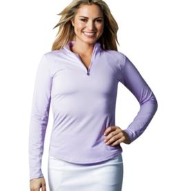 San Soleil SanSoleil Ladies' SolTek Ice 1/4 Zip Mock Long Sleeve Shirt