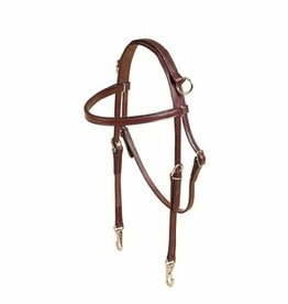 Tory Leather Side Check Training Headstall