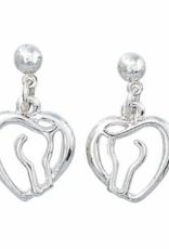 AWST Awst Horse Head & Heart Earring