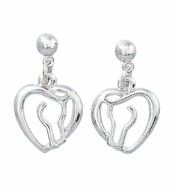 AWST Awst Horse Head & Heart Earring