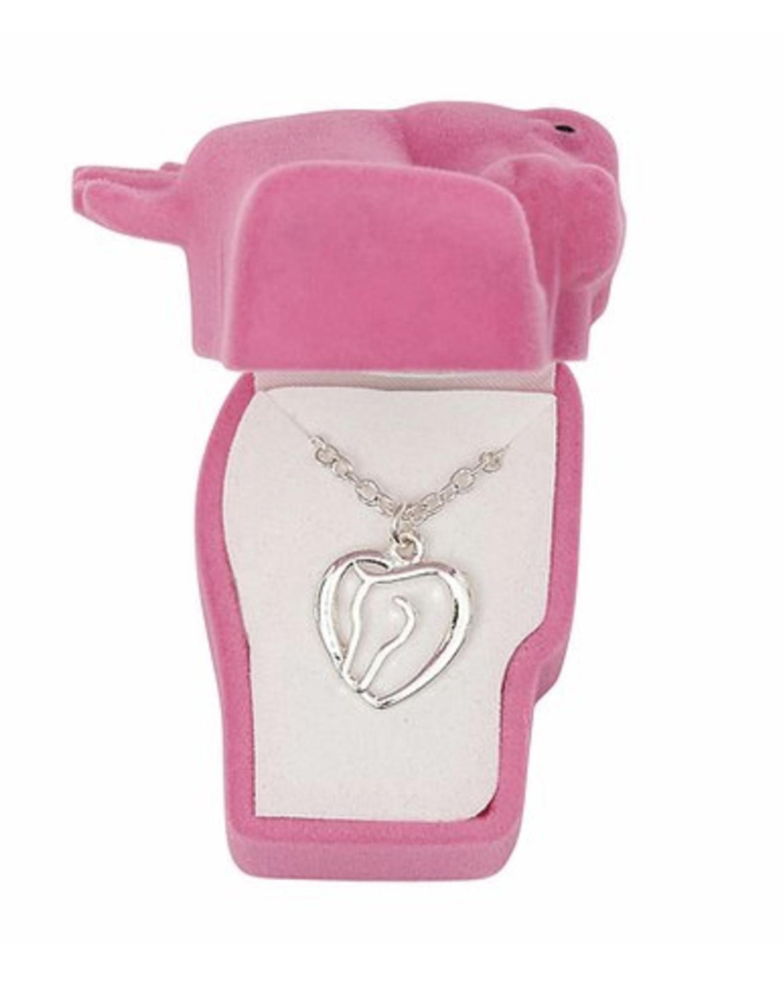 AWST Awst Horse Head & Heart Necklace