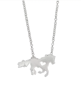 AWST Awst Pony with Heart Necklace