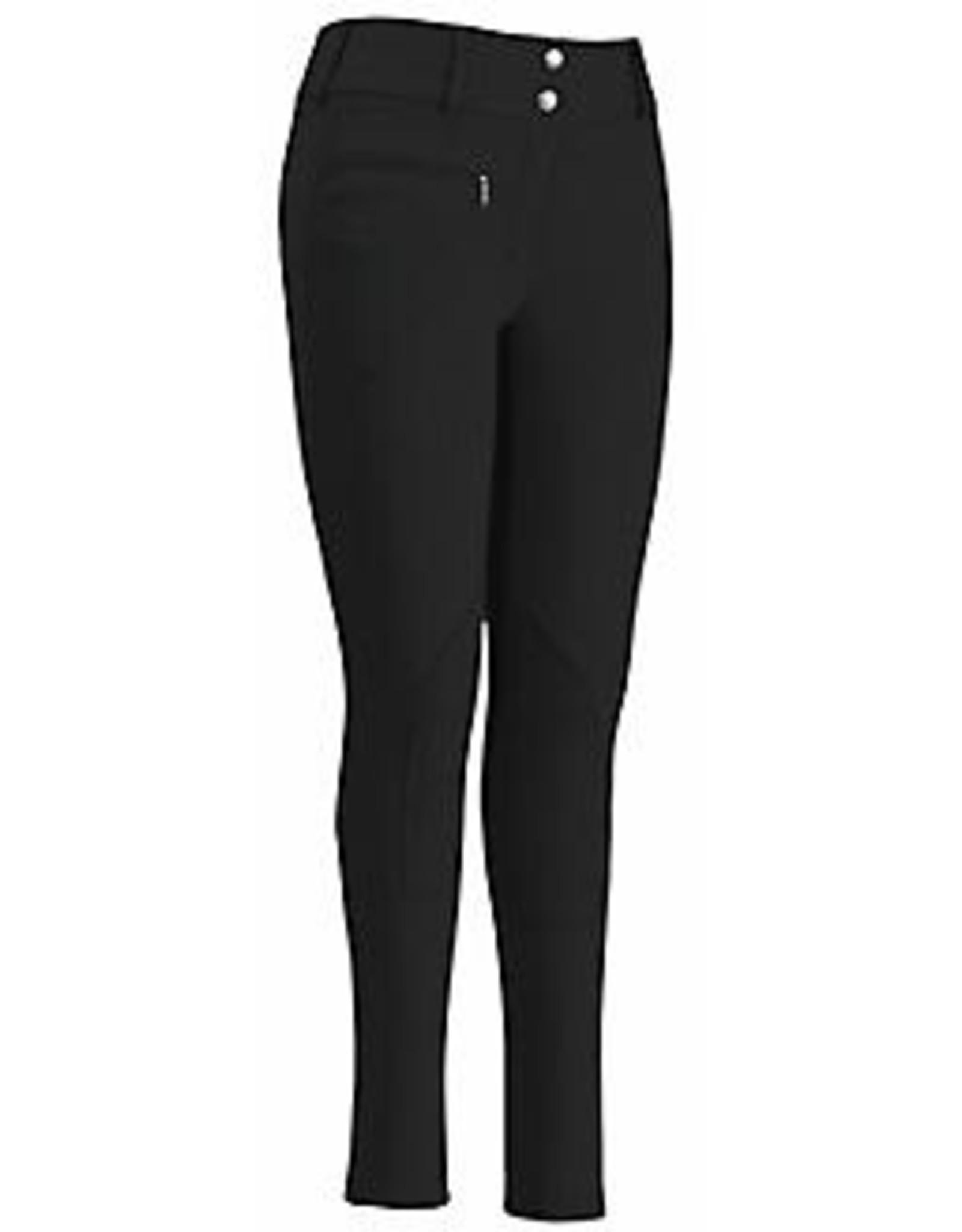 TuffRider Ladies' Lowrise Wide Waist Knee Patch Breeches