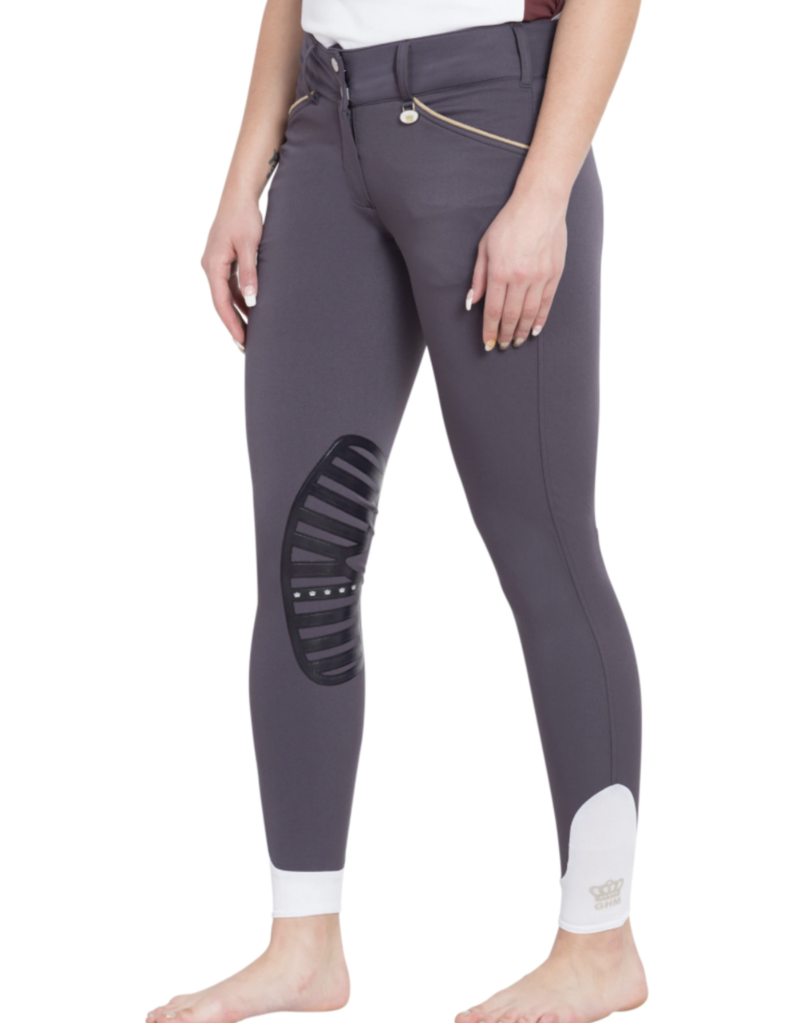 Equine Couture Ladies' Add Back Silicone Knee Patch Breeches