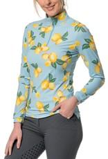 Kastel Ladies' 1/4 Zip Long Sleeve Print Sun Shirt