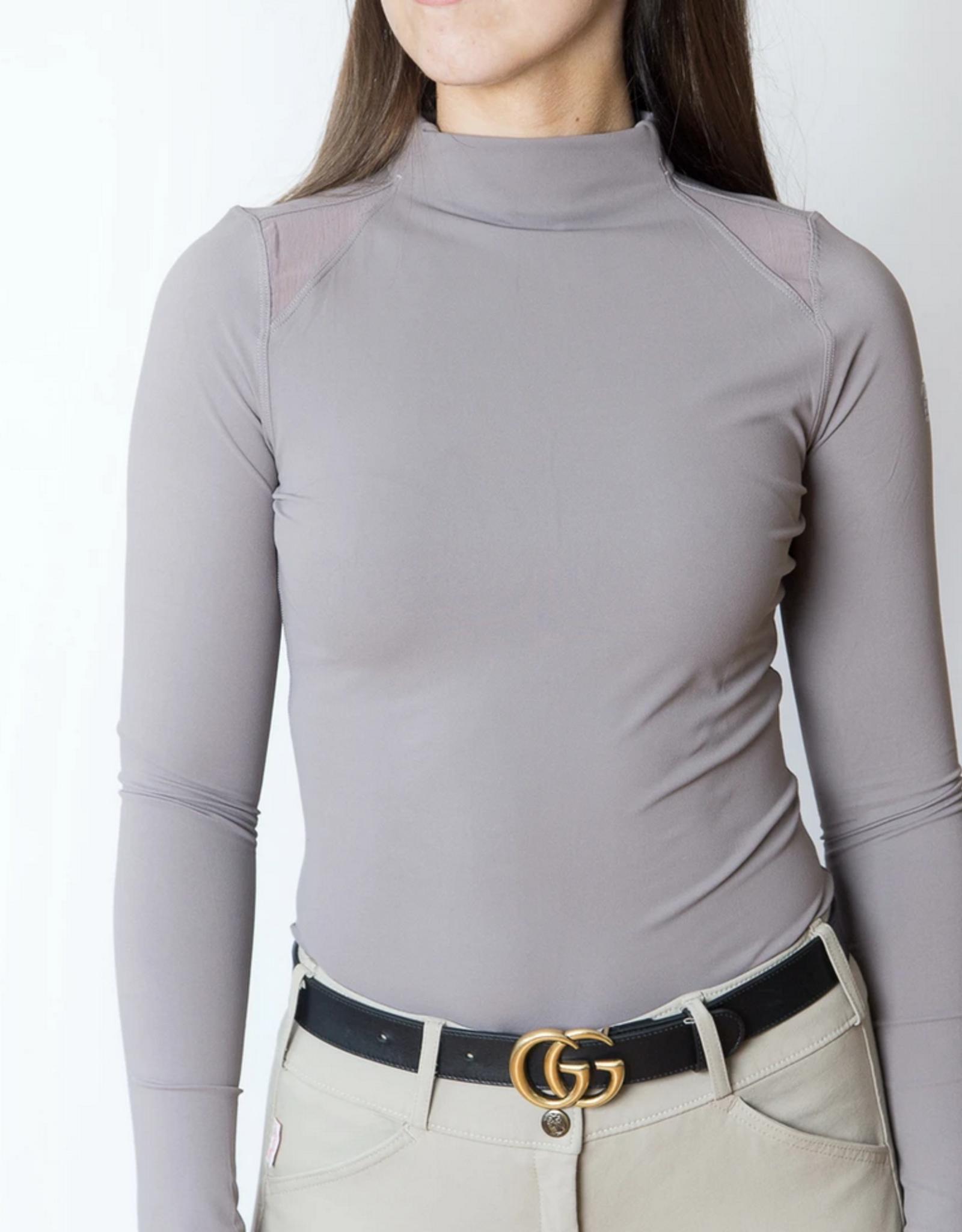 TKEQ Ladies' Chloe Mockneck Long Sleeve Technical Top