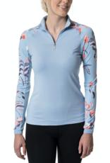 Kastel Ladies' 1/4 Zip Raglan Print Long Sleeve Shirt