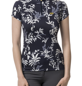 Kastel Ladies' Cap Sleeve Floral Print Sun Shirt