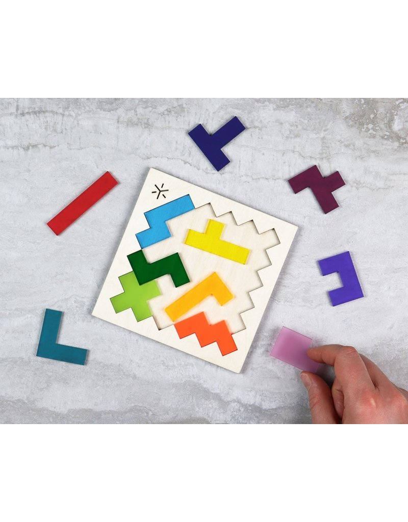 Bright Beem Goods Rainbow Pentomino Puzzle