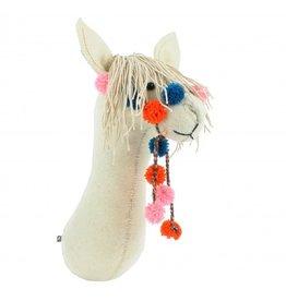 Semi Cream Llama with Bridle