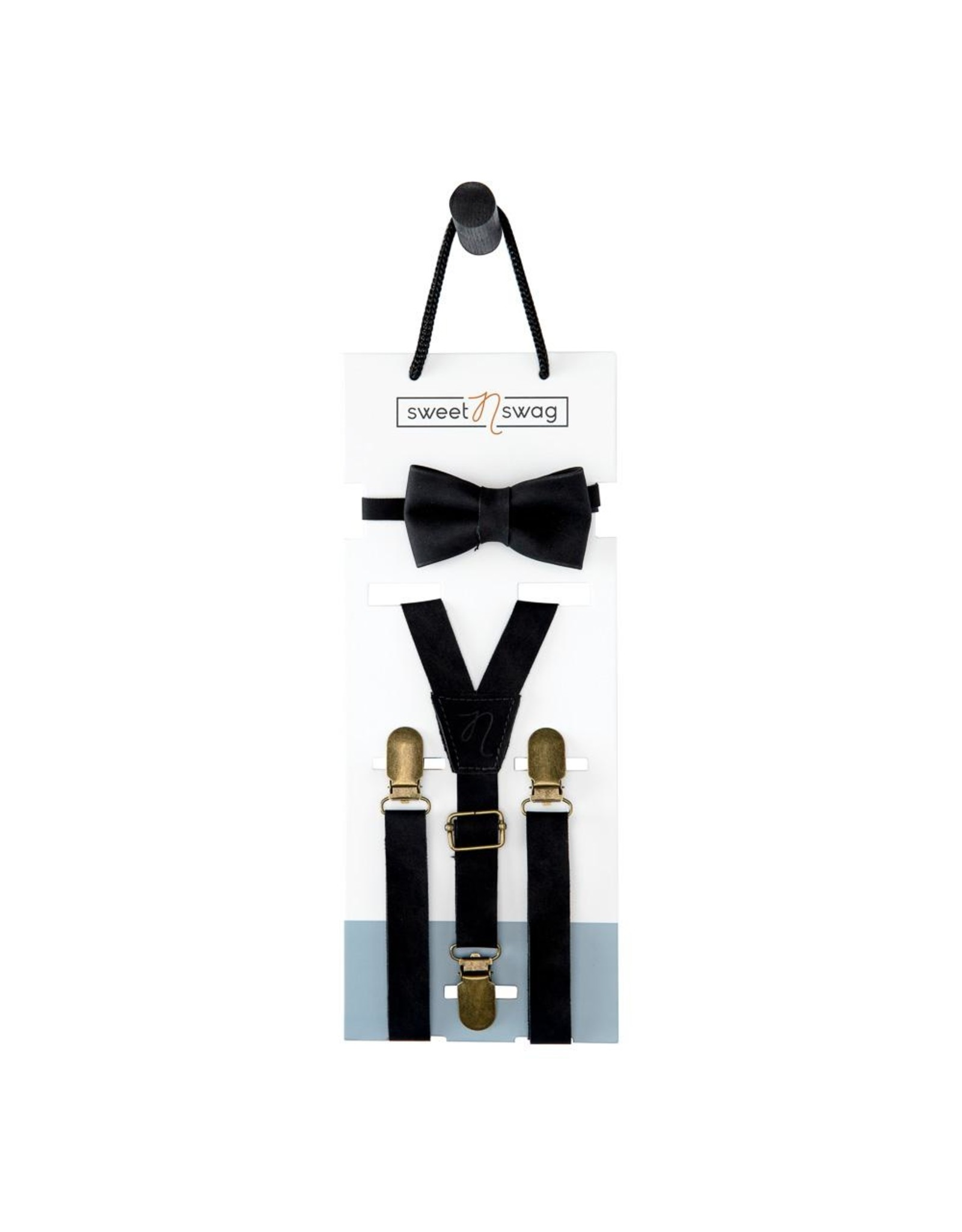 Sweet N Swag BOW TIE SET - THE PERFECT MATCH - EBONY