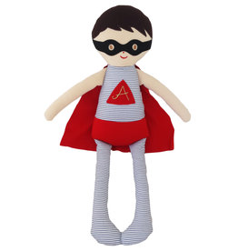 Alimrose Superhero Doll Grey Red