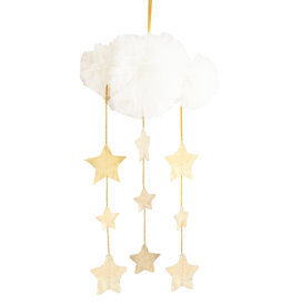 Alimrose Tull Cloud Mobile - Ivory & Gold