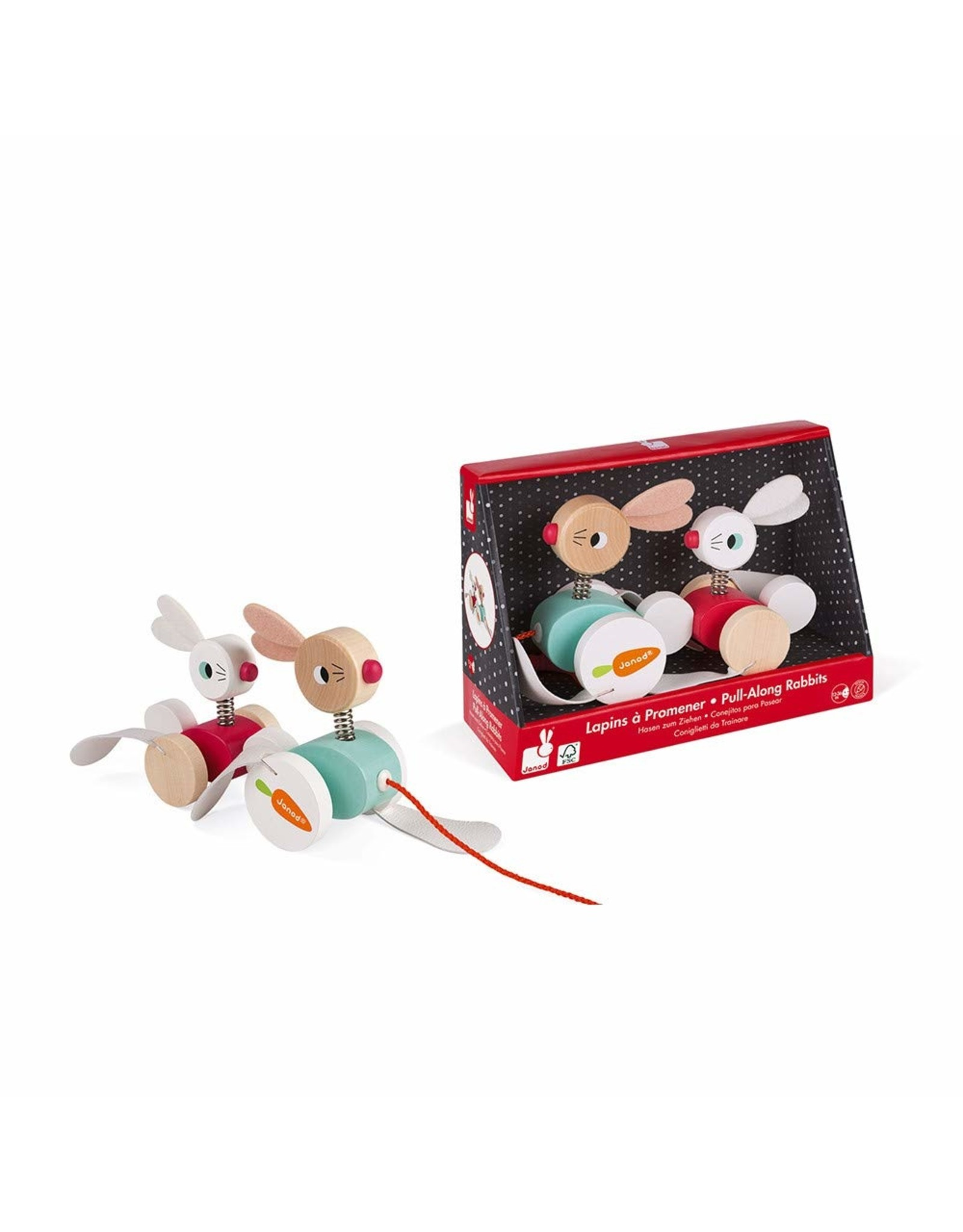 Jura Toys Pull Along Rabbits