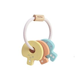 Plan Toys Key Rattle - Pastel