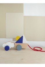 The Wandering Workshop Boat And Cloud Pull Toy