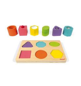 Jura Toys I Wood Shapes & Sounds 6 Block