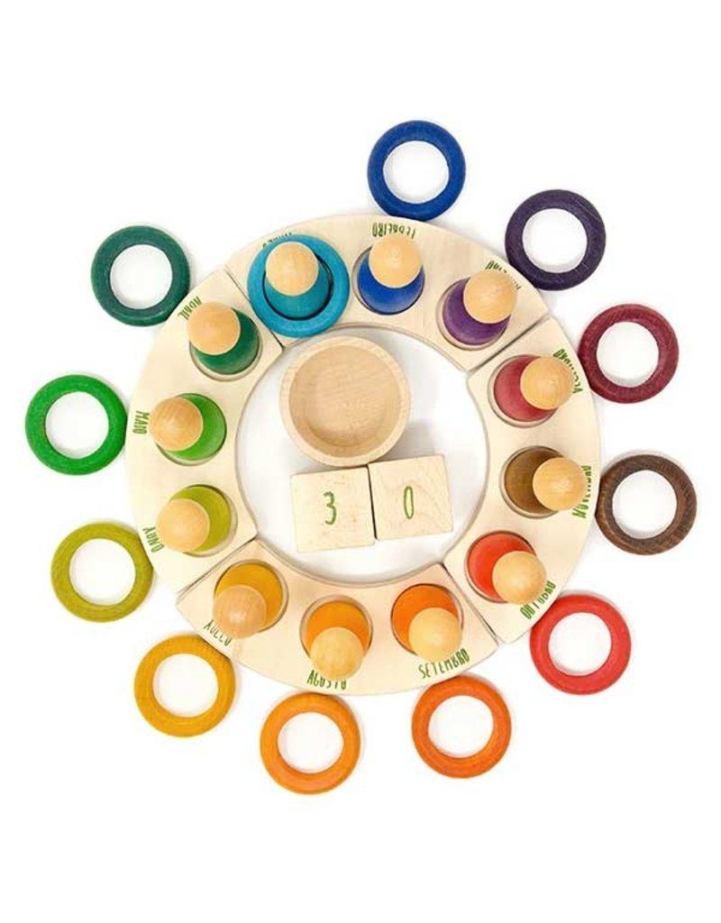 Grapat 12 Rings Perpetual Calendar