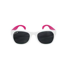 roshambo baby Rainbow Brite White & Pink Sunglasses