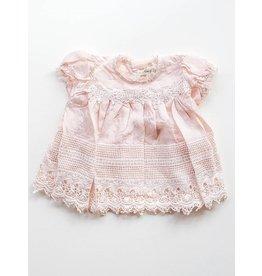 Miss Rose Sister Violet Heirloom Silk Baby Dress
