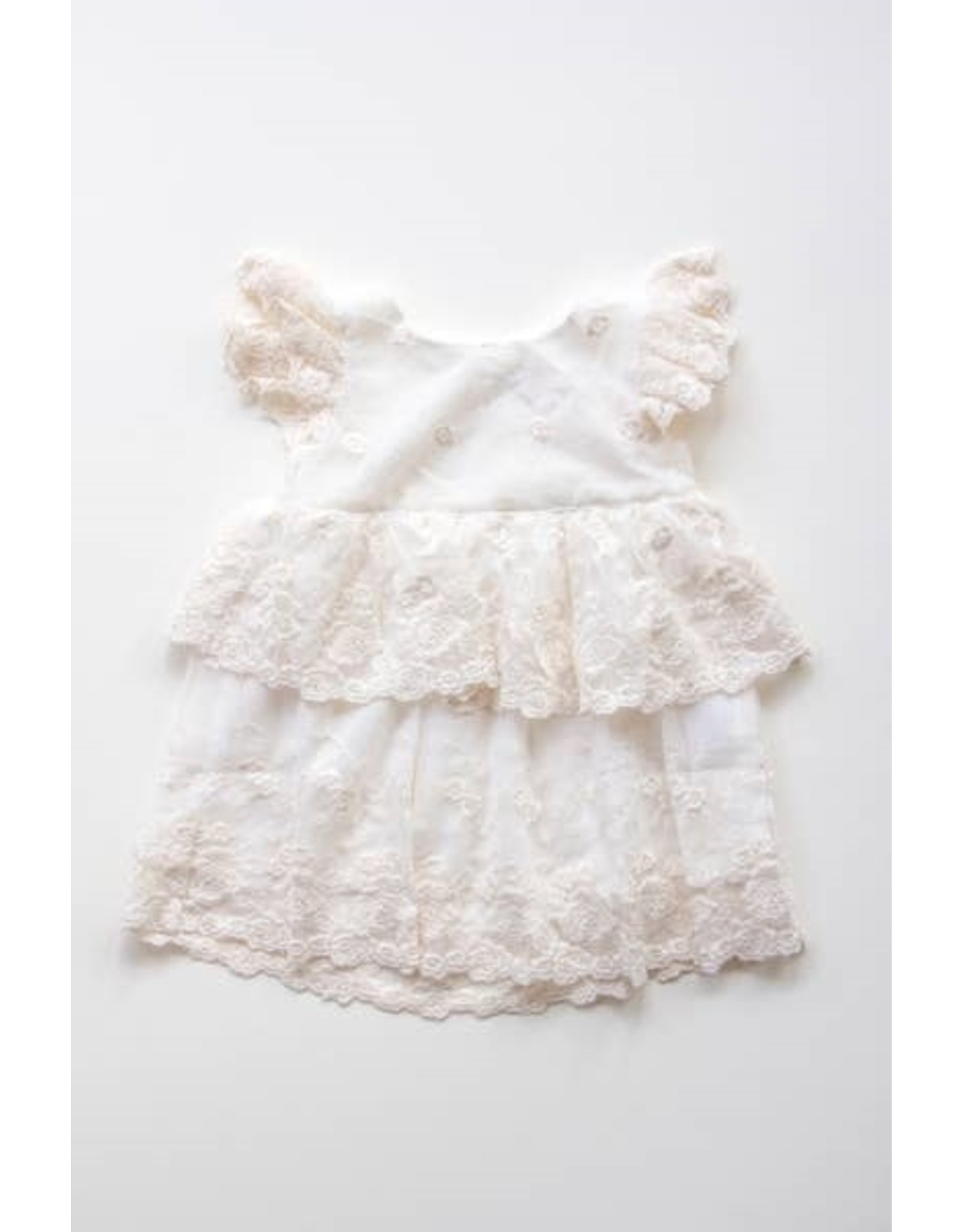 Miss Rose Sister Violet Layered Lace Baby Dress