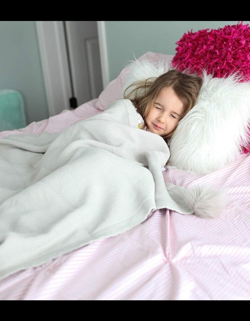 Mon Ami Pom Pom Blanket Grey