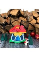Glueckskaefer Mushroom House Stacker Puzzle