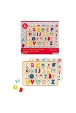 Petit Collage Alphabet Wood Tray Puzzle