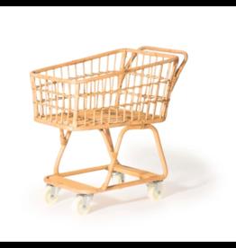 Poppie Toys Rattan Handmade Mini Shopping Cart