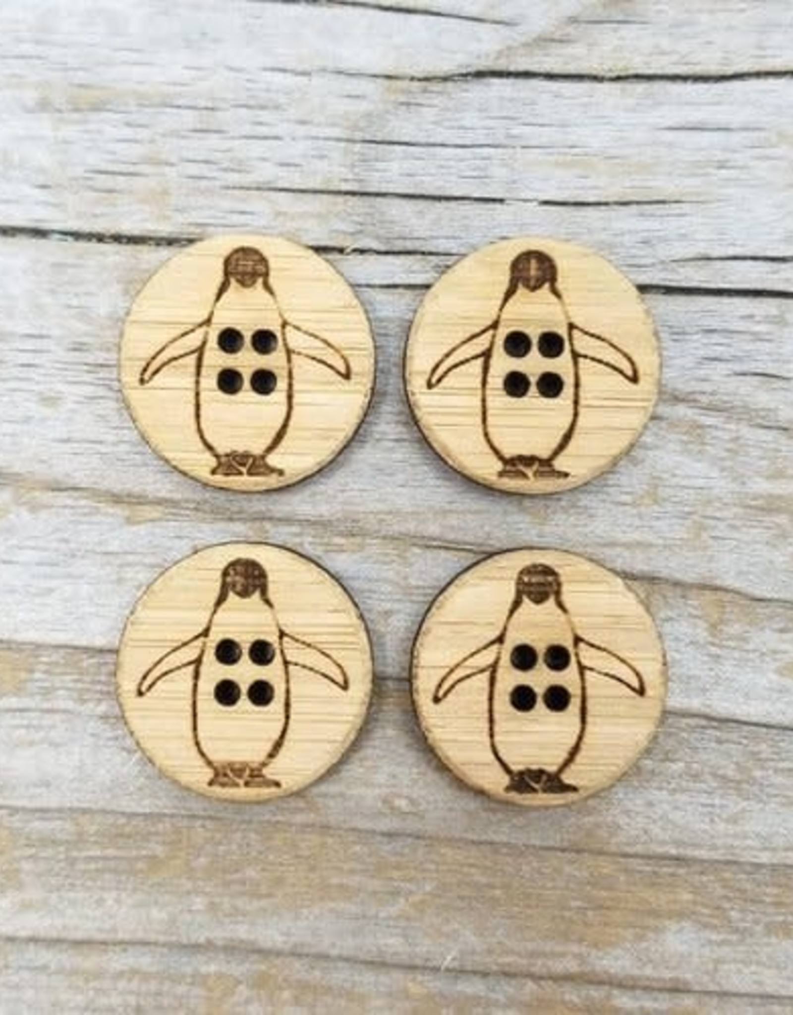 Katrinkles Buttons & Tools Peguin Buttons - Card of 4