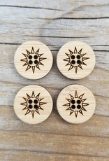 Katrinkles Buttons & Tools Sunburst Buttons - Card of 4 - 5/8""