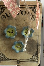 Cynthia Crane Pottery Flower Buttons - Card of 3