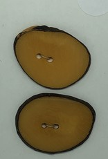 Durango Buttons Tagua Nut Slice Dyed Pumpink Button