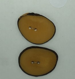 Durango Buttons Durango Buttons - Tagua Nut Slice Dyed Pumpink Button