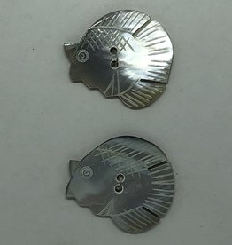 Durango Buttons Durango Buttons - Shell Blue Angel Fish Button - K135B