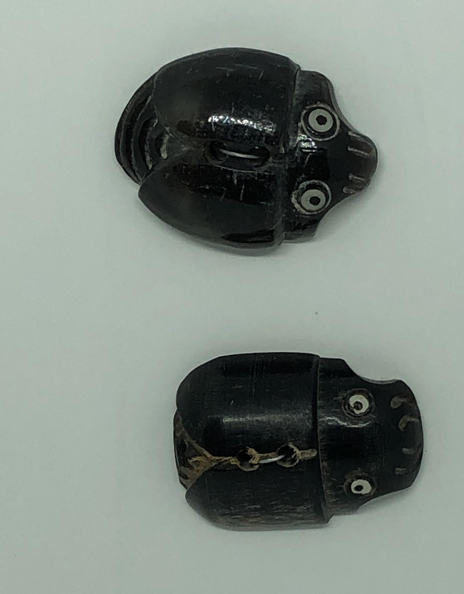Durango Buttons Horn Scarab Button - H28