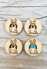 Katrinkles Buttons & Tools French Bulldog Buttons - Card of 4