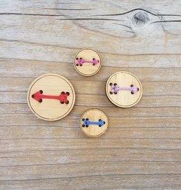 "Katrinkles Buttons & Tools Katrinkles Buttons & Tools - Arrow Buttons - Card of 4 - 3/4"""