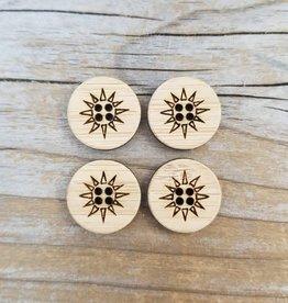 "Katrinkles Buttons & Tools Katrinkles Buttons & Tools - Sunburst Buttons - Card of 4 - 1"""