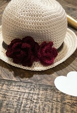 Susie Q Panama Hat with Flowers
