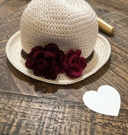 Susie Q Susie Q - Panama Hat with Flowers