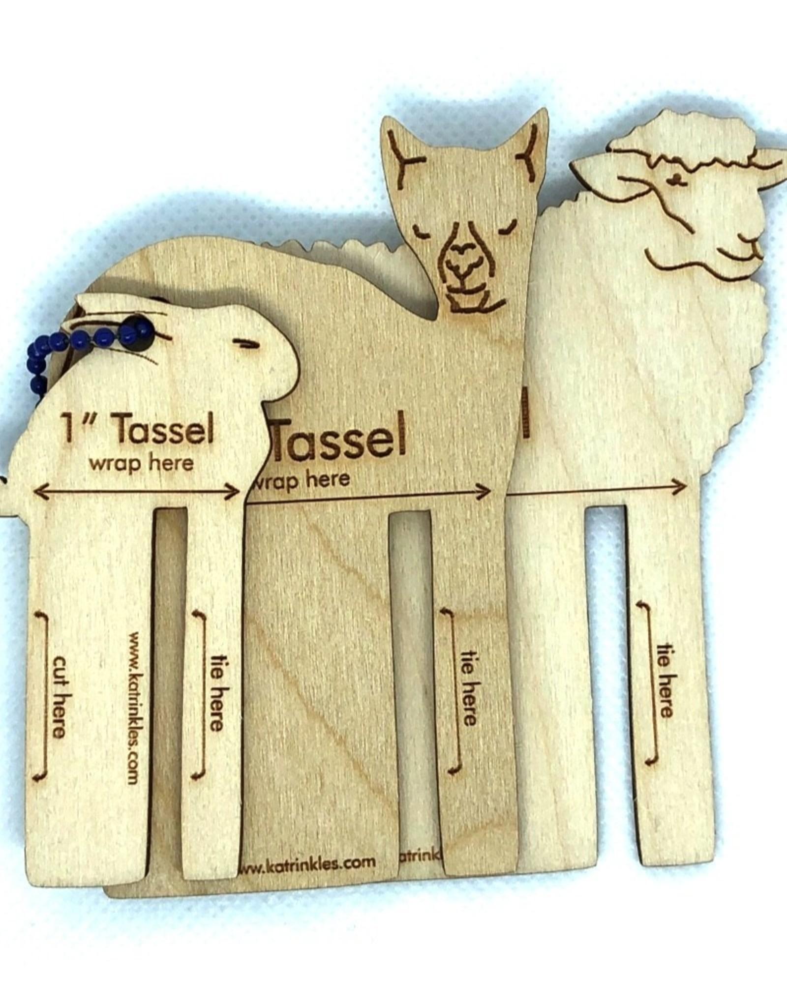 Katrinkles Buttons & Tools Misc Tools - Fiber Animal Tassel Making Tools - Bunny, Alpaca, Sheep