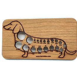 Katrinkles Buttons & Tools Misc Tools - Katrinkles Buttons & Tools - Dachshund Knitting Needle Gauge
