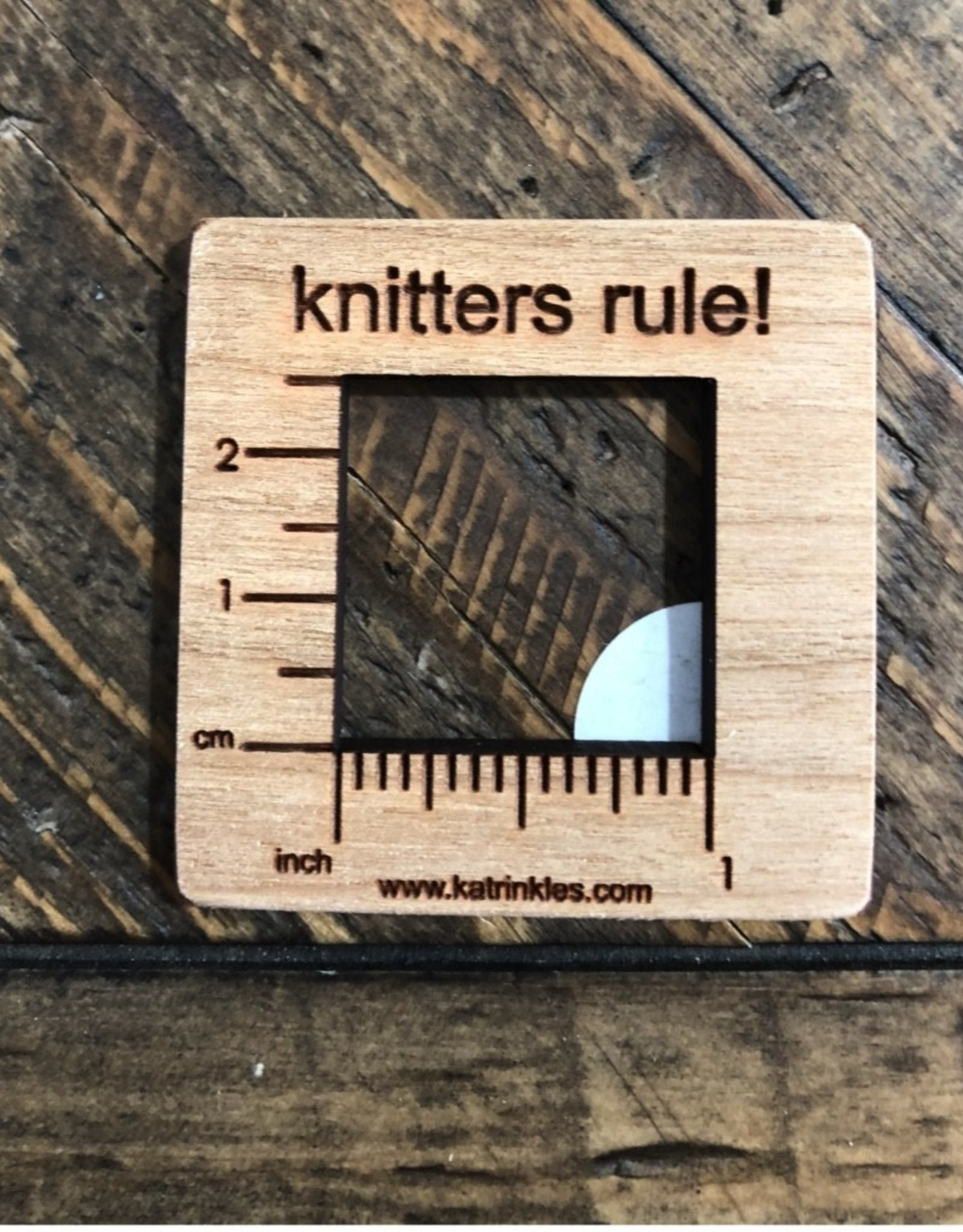 Katrinkles Buttons & Tools Misc Tools - Knit Gauge Swatch Ruler