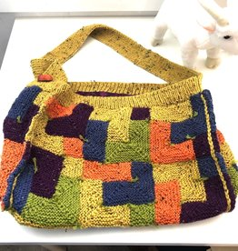 One of a Kind - Blocking Knit Bag