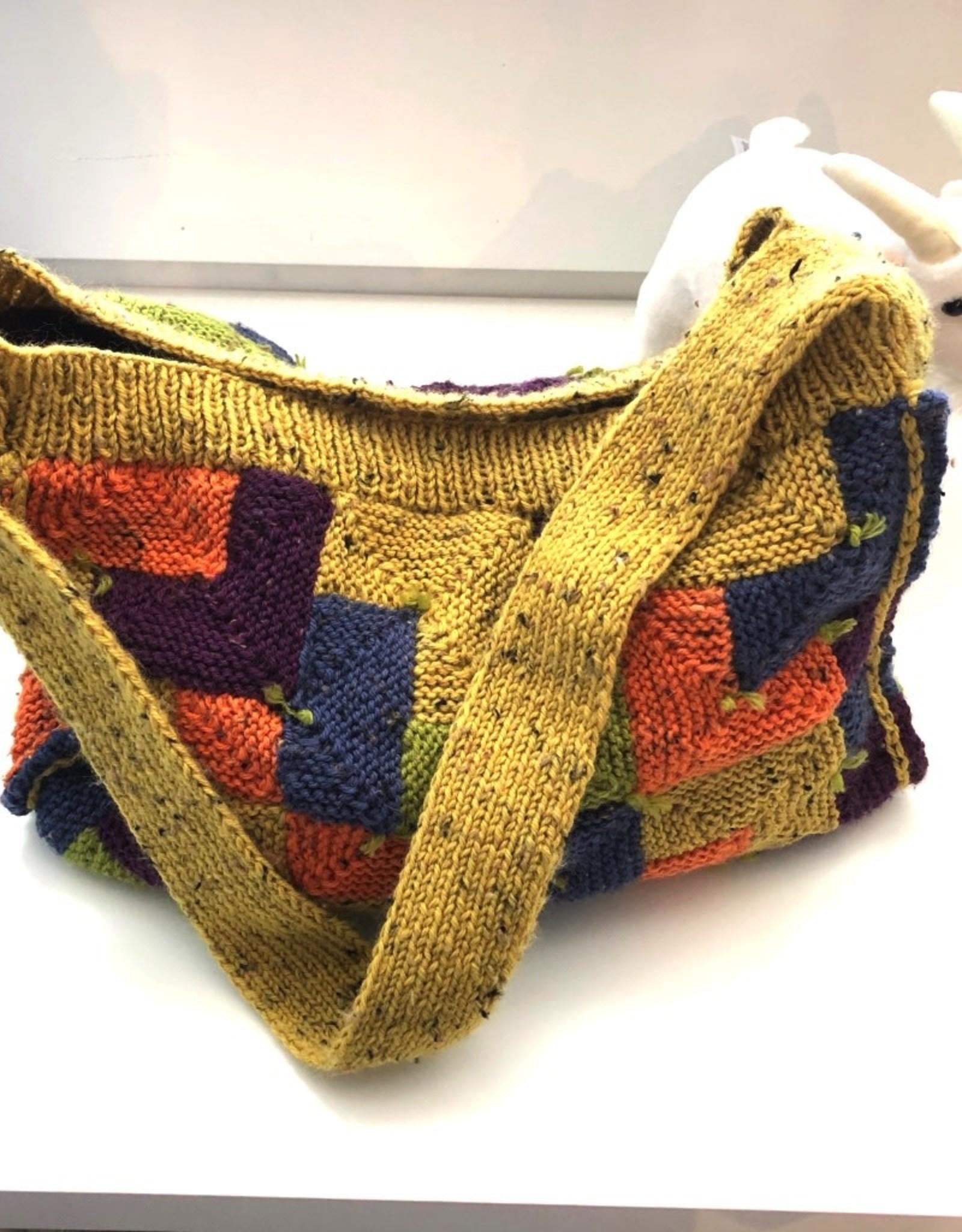 Blocking Knit Bag