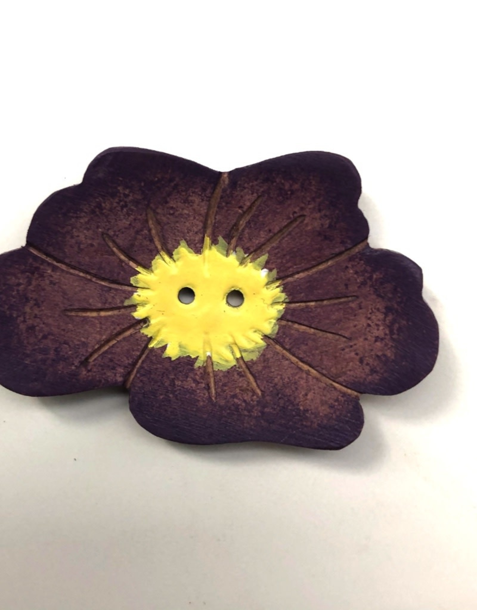 Renaissance Purple Flower Button