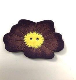 Renaissance Purple Flower Button