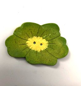 Renaissance Green Flower Button