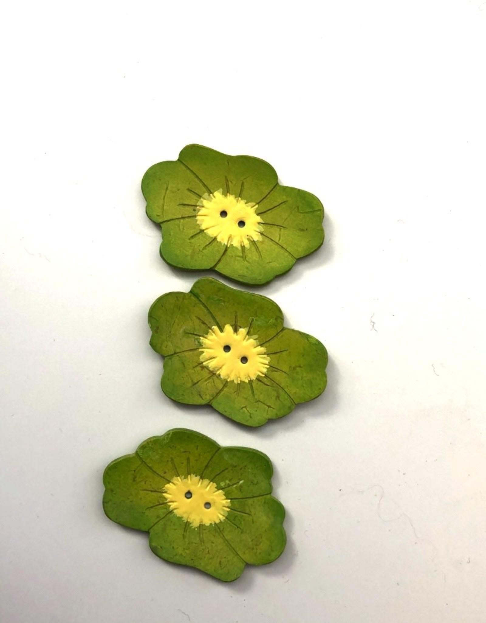 Renaissance Green Flower Button